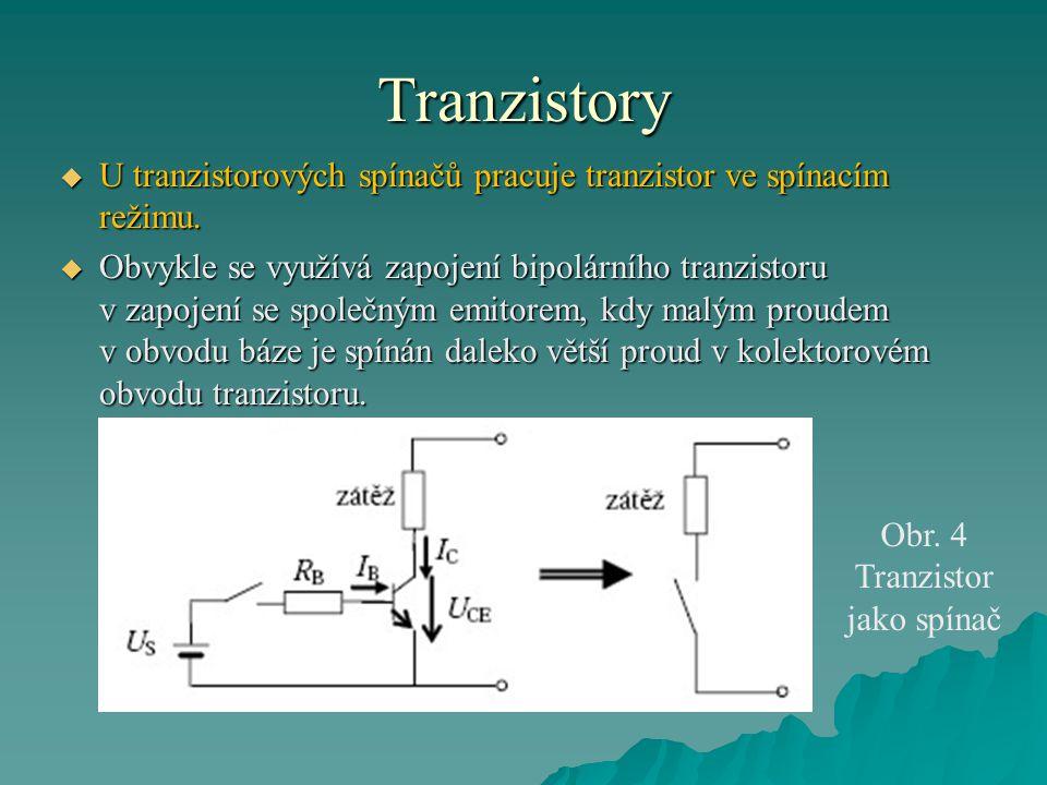 Obr. 4 Tranzistor jako spínač