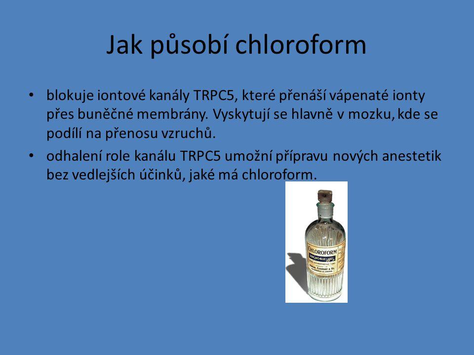 Jak působí chloroform