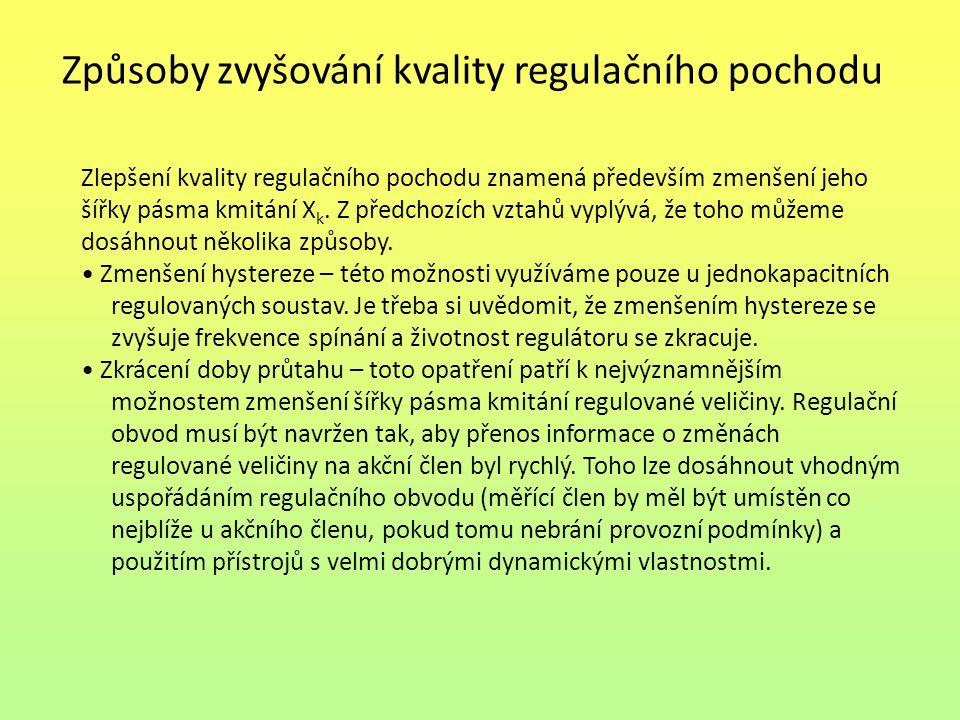 Způsoby zvyšování kvality regulačního pochodu