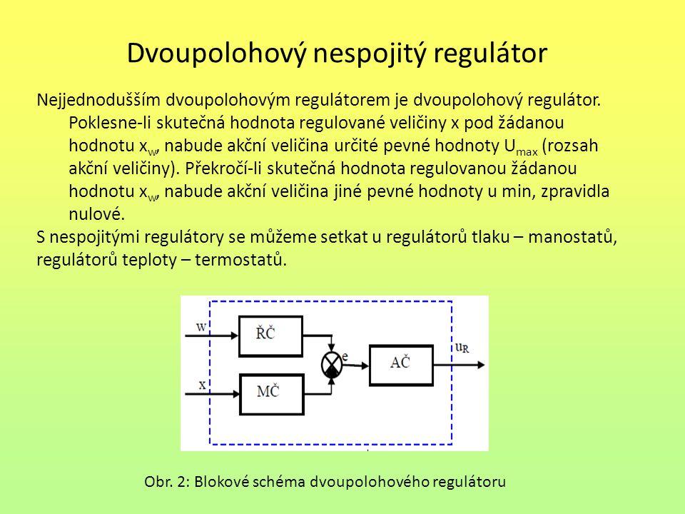 Dvoupolohový nespojitý regulátor