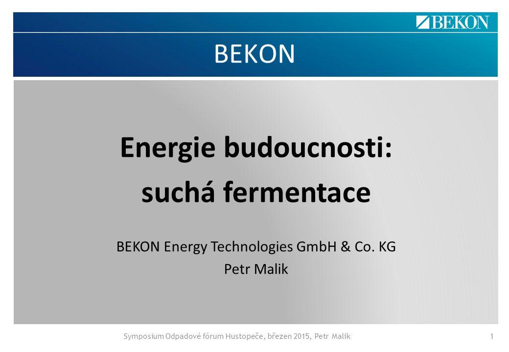 Energie budoucnosti: suchá fermentace