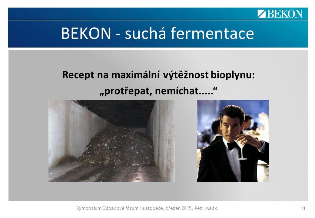 BEKON - suchá fermentace