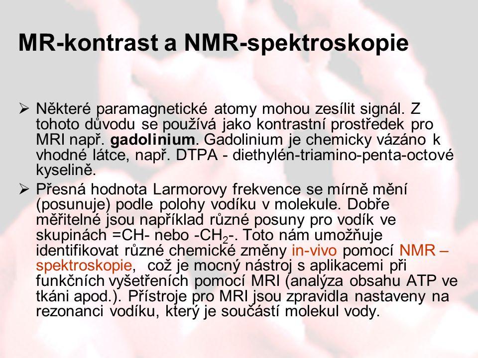 MR-kontrast a NMR-spektroskopie