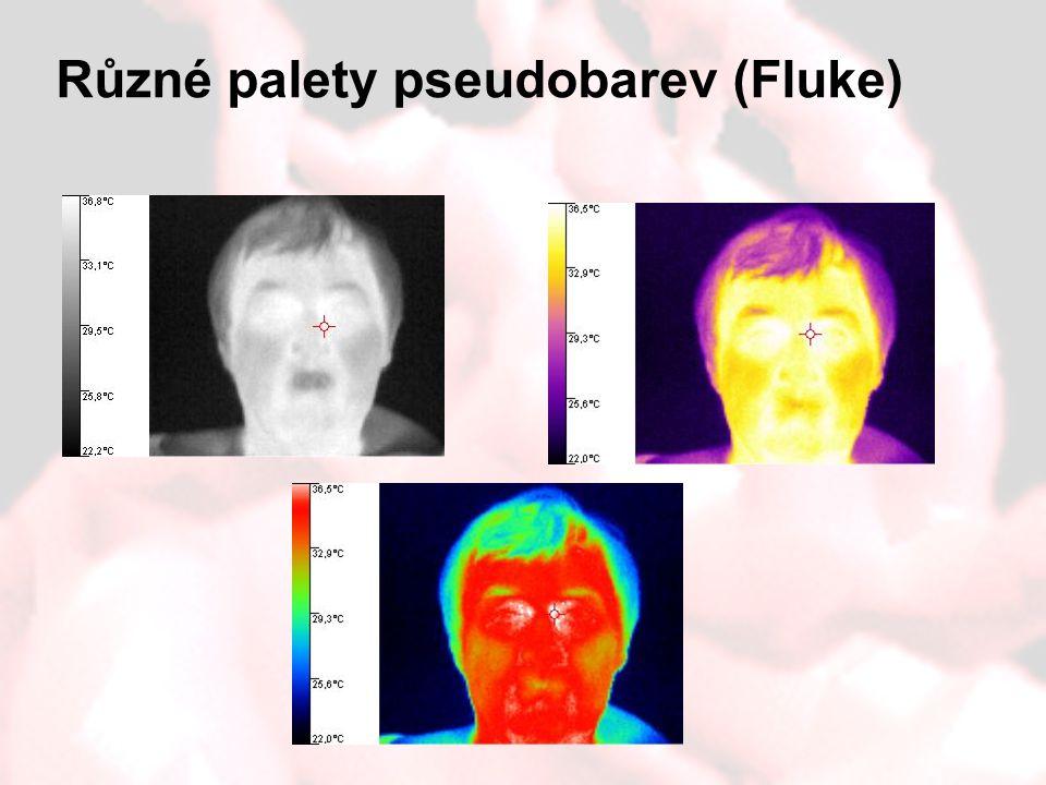 Různé palety pseudobarev (Fluke)