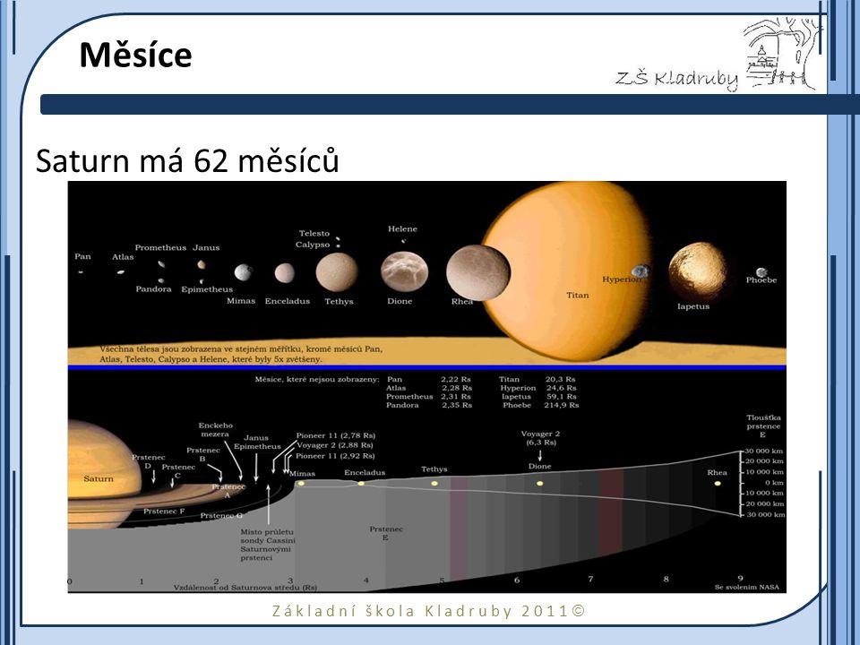 Měsíce Saturn má 62 měsíců
