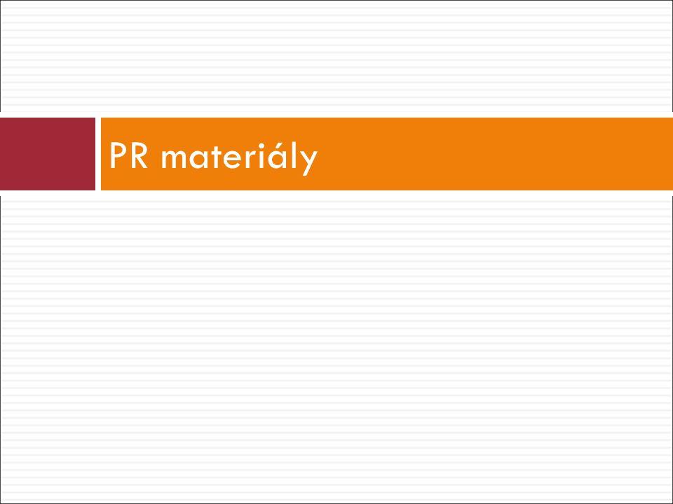 PR materiály