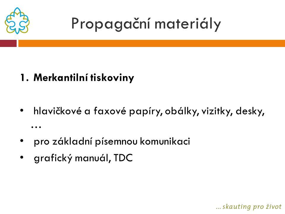 Propagační materiály Merkantilní tiskoviny