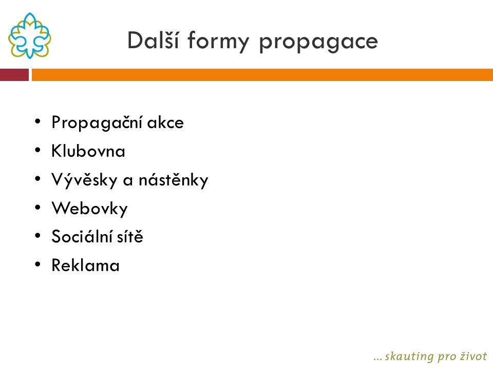 Další formy propagace Propagační akce Klubovna Vývěsky a nástěnky