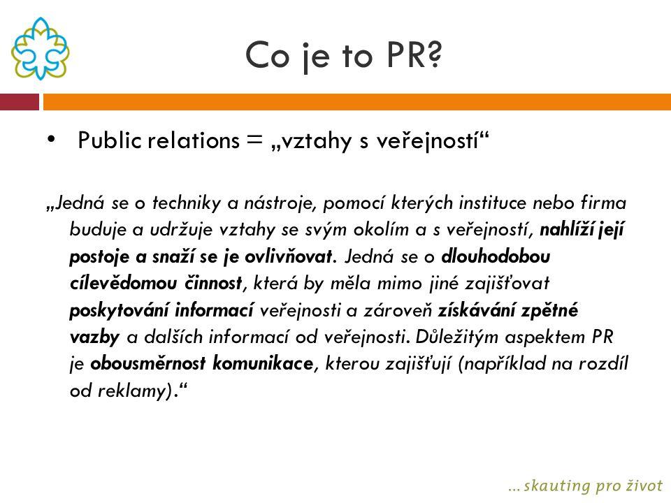 """Co je to PR Public relations = """"vztahy s veřejností"""