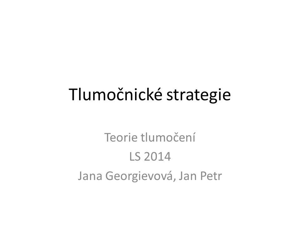 Tlumočnické strategie