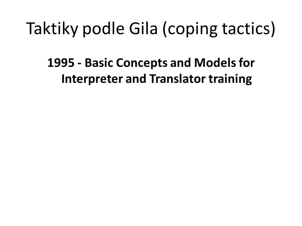 Taktiky podle Gila (coping tactics)
