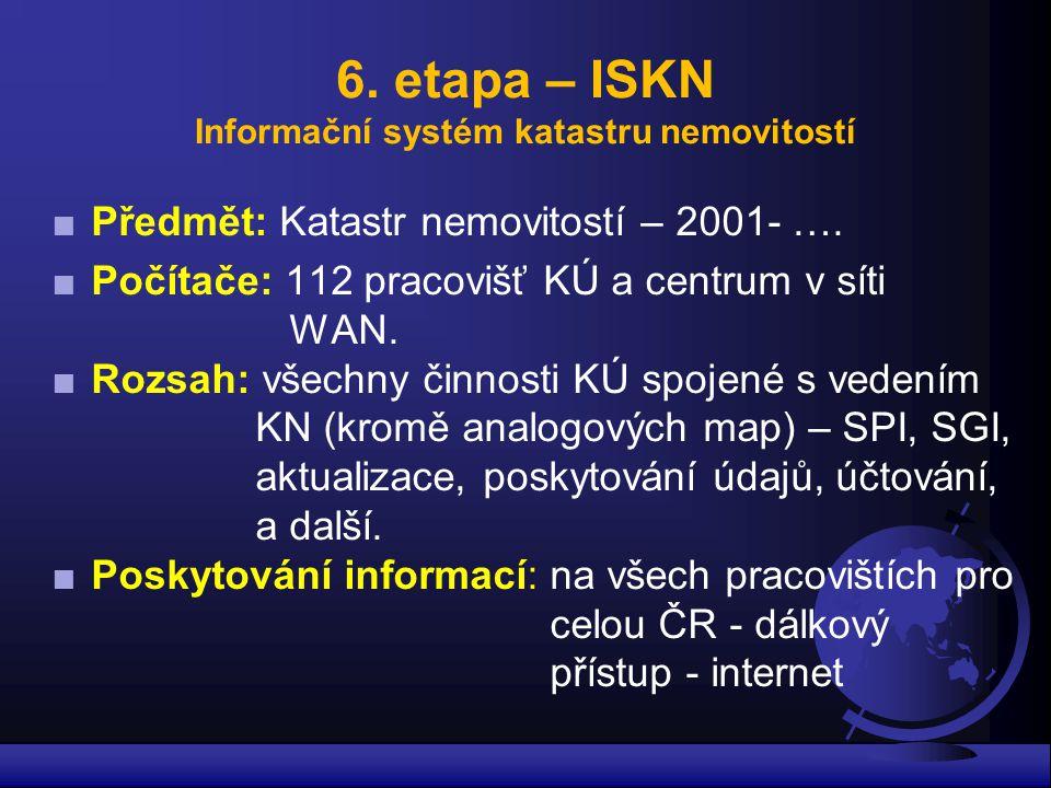 6. etapa – ISKN Informační systém katastru nemovitostí