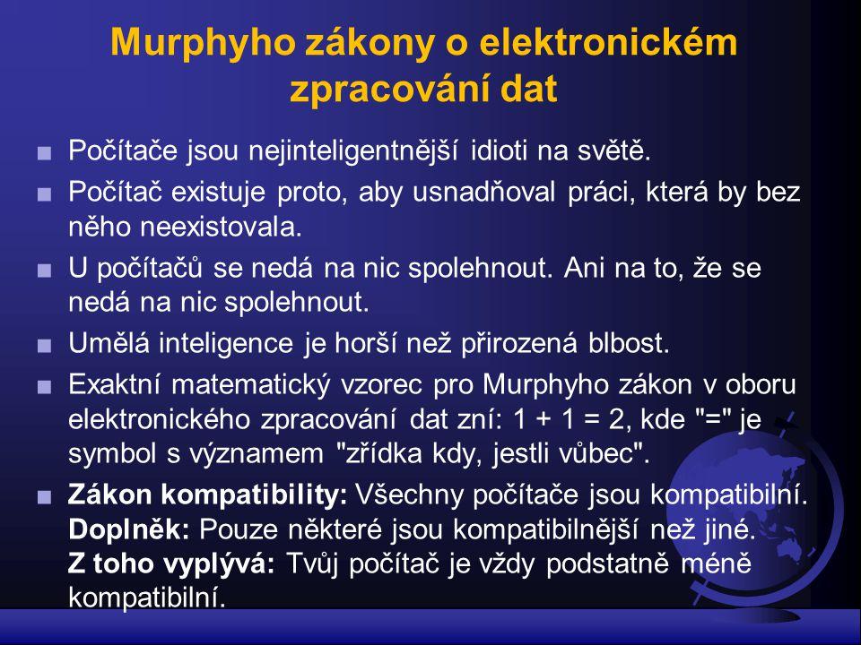 Murphyho zákony o elektronickém zpracování dat