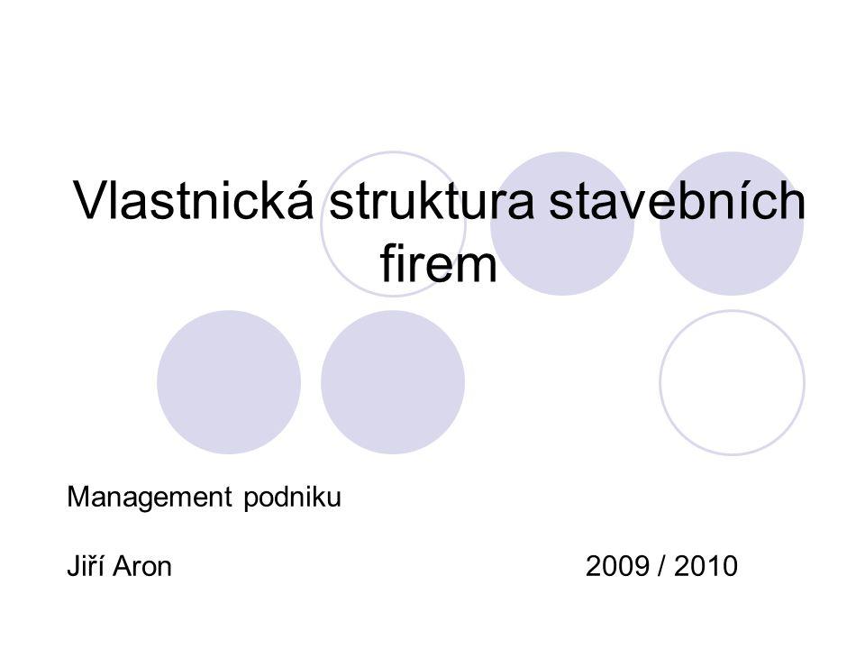 Vlastnická struktura stavebních firem
