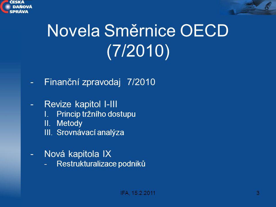 Novela Směrnice OECD (7/2010)