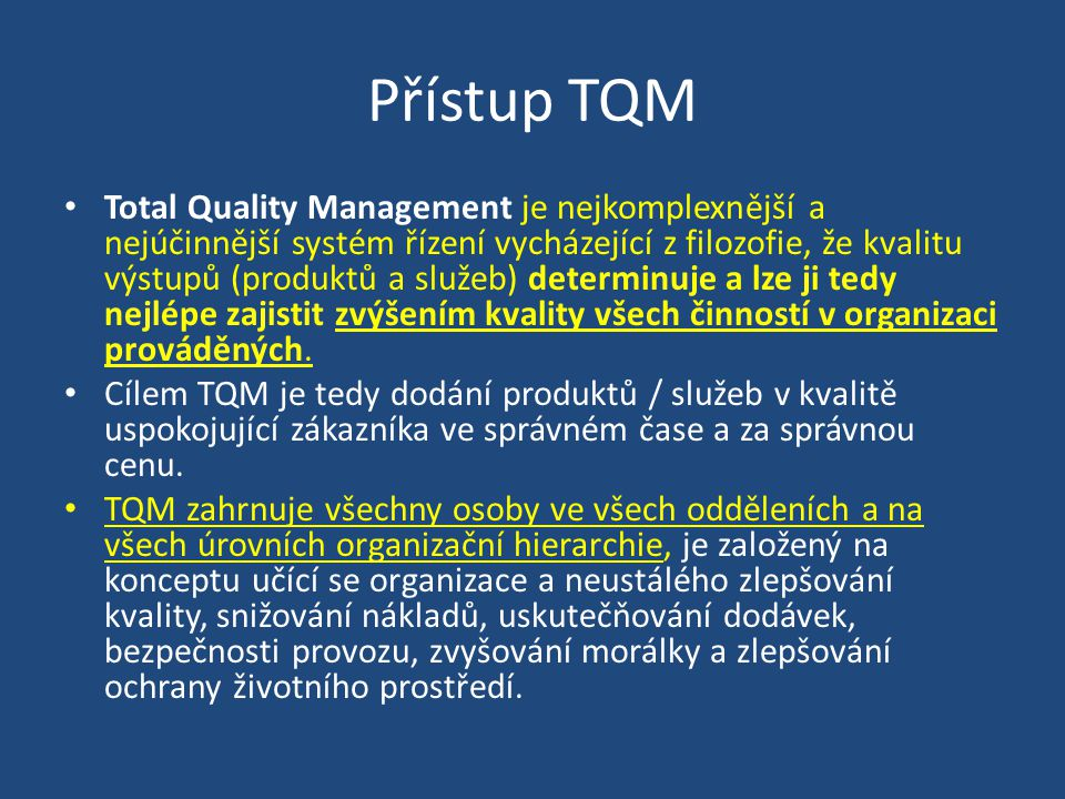 Přístup TQM