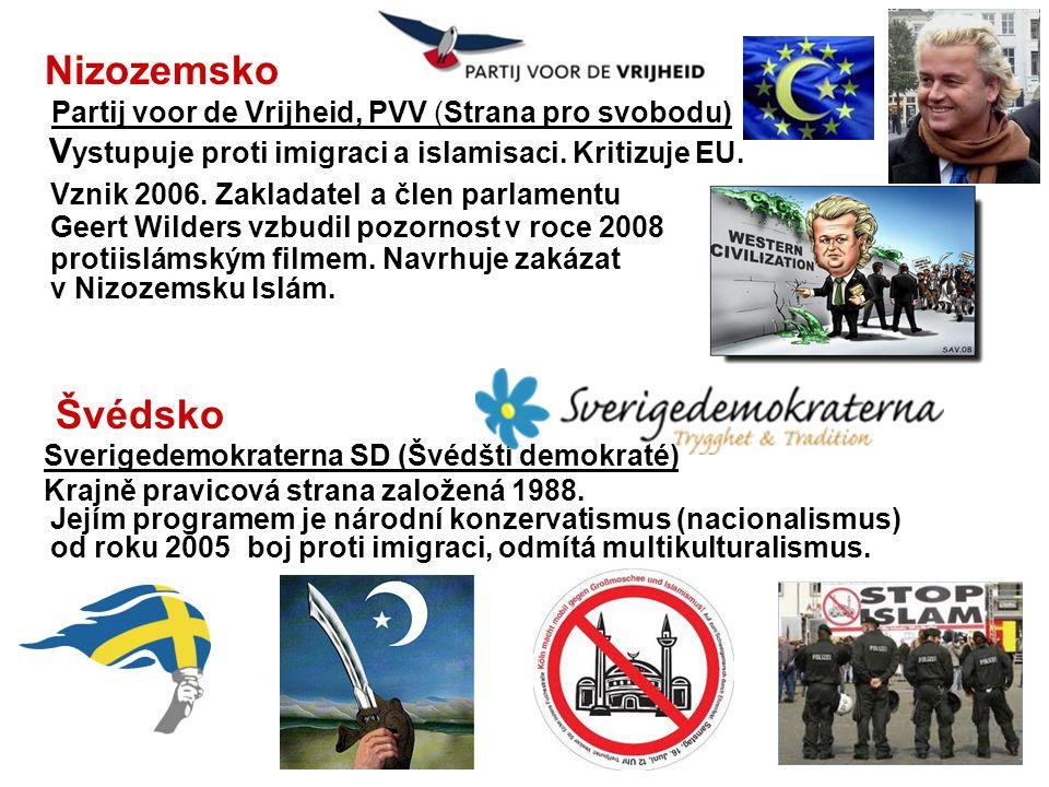 Nizozemsko Partij voor de Vrijheid, PVV (Strana pro svobodu)
