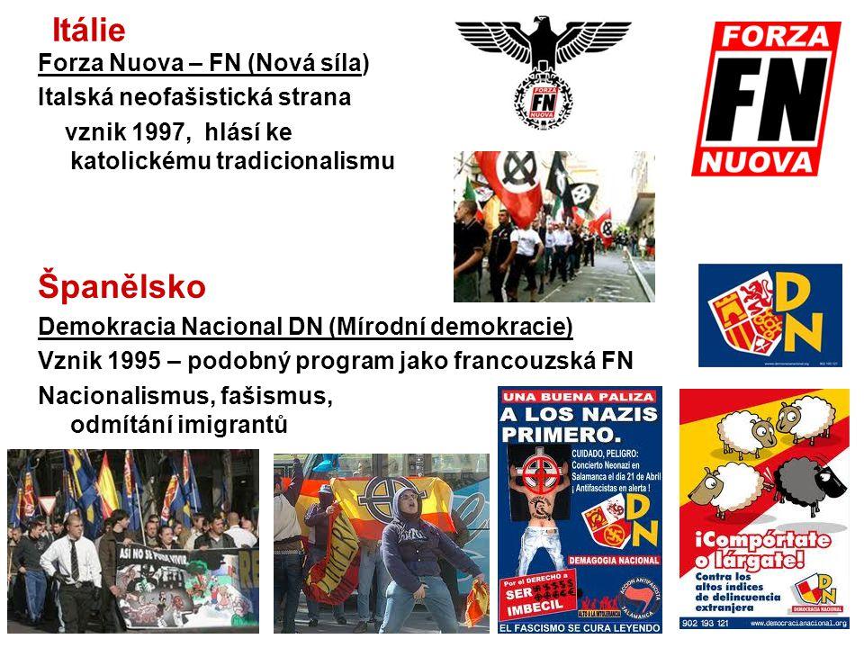 Itálie Španělsko Forza Nuova – FN (Nová síla)