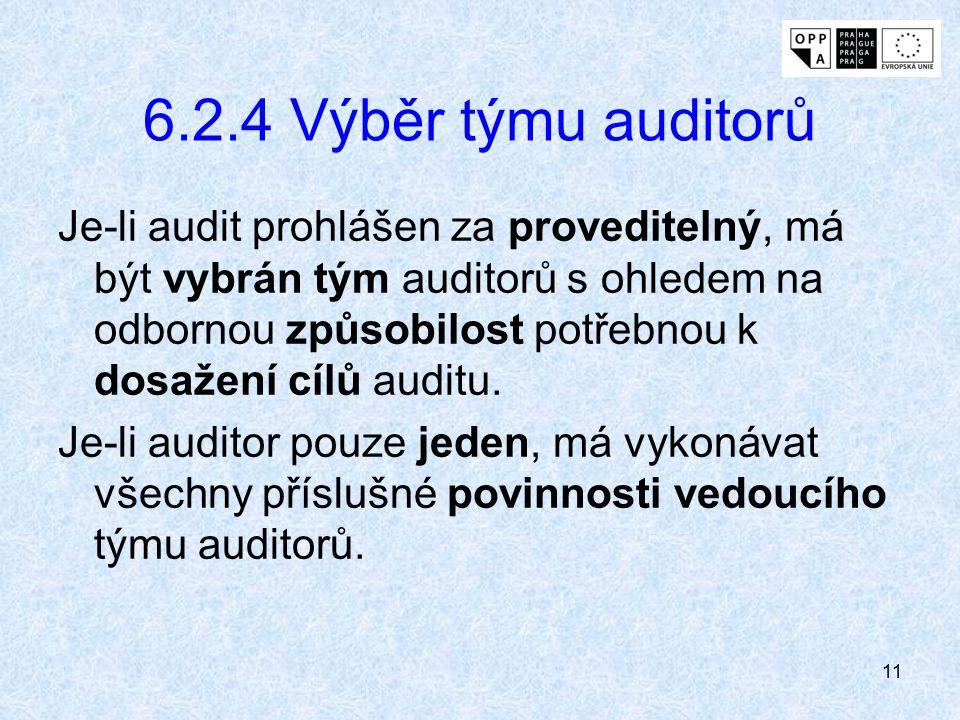 6.2.4 Výběr týmu auditorů