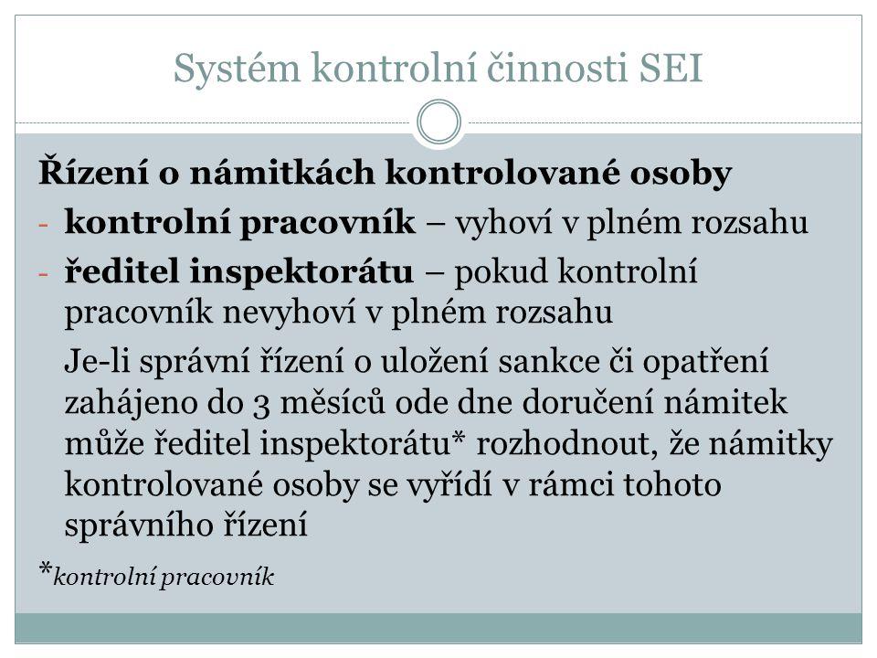 Systém kontrolní činnosti SEI