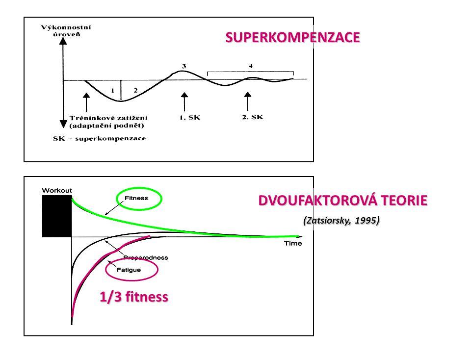 SUPERKOMPENZACE DVOUFAKTOROVÁ TEORIE (Zatsiorsky, 1995) 1/3 fitness
