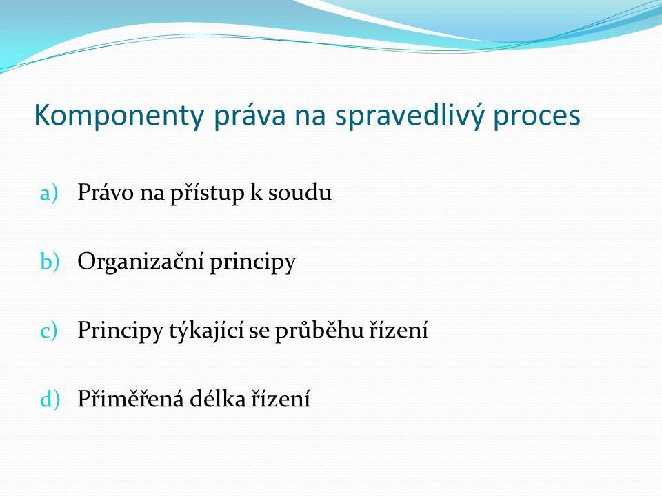 Komponenty práva na spravedlivý proces