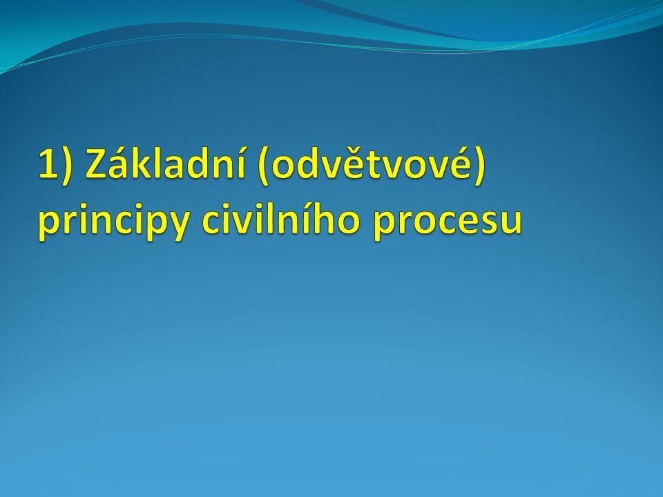 1) Základní (odvětvové) principy civilního procesu