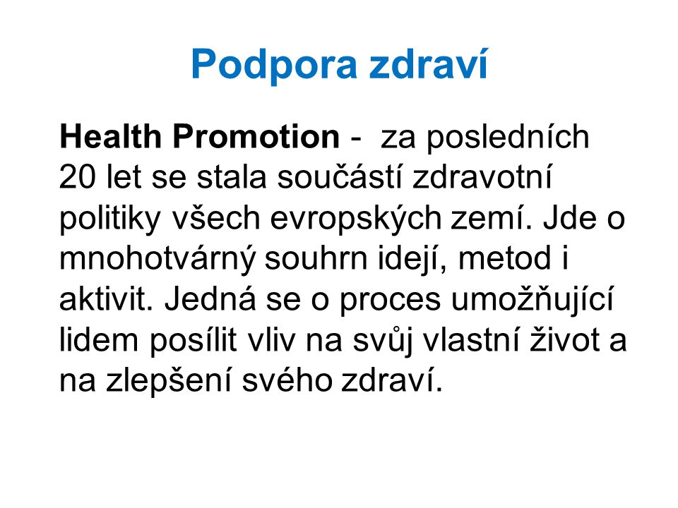 Podpora zdraví