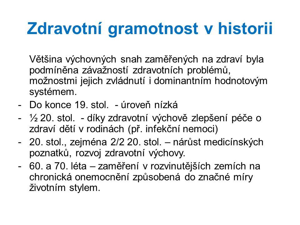 Zdravotní gramotnost v historii