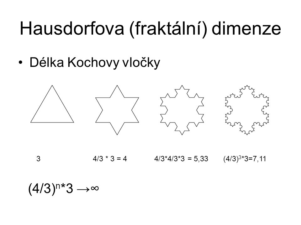 Hausdorfova (fraktální) dimenze
