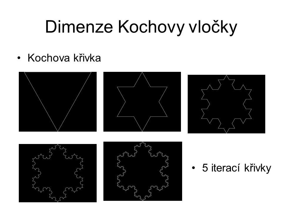 Dimenze Kochovy vločky