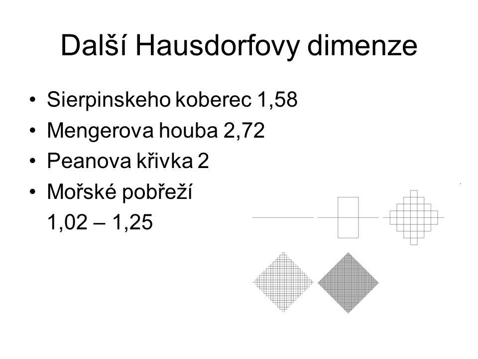 Další Hausdorfovy dimenze