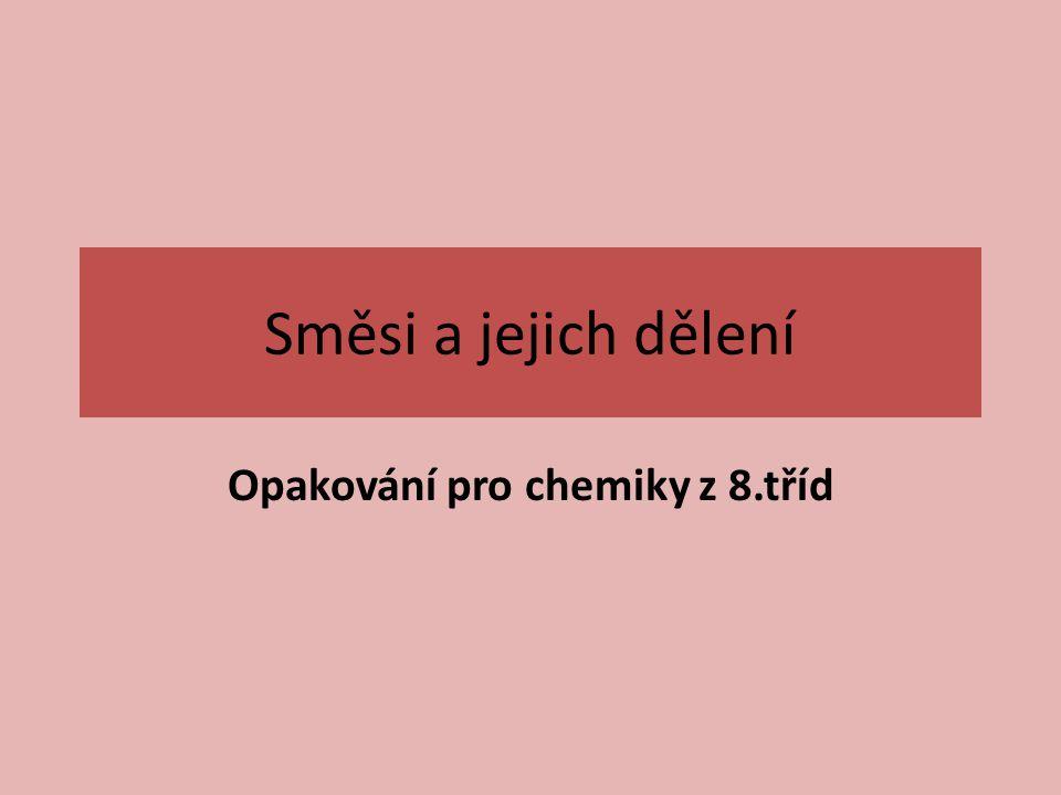 Opakování pro chemiky z 8.tříd