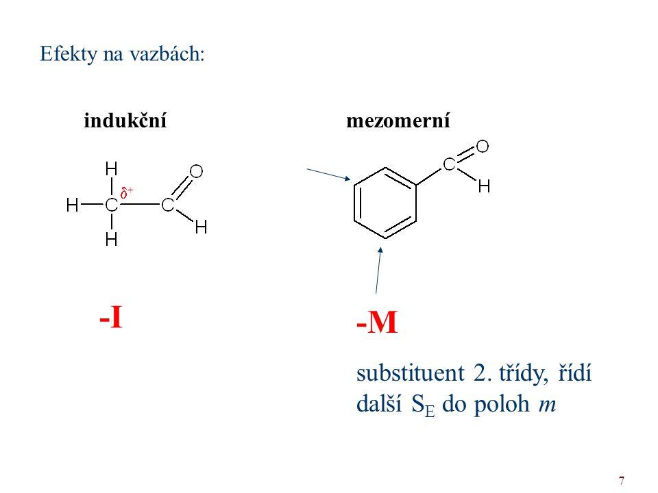 -I -M substituent 2. třídy, řídí další SE do poloh m