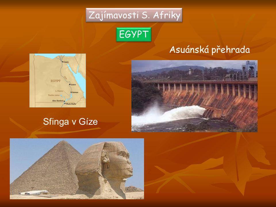 Zajímavosti S. Afriky EGYPT Asuánská přehrada Sfinga v Gíze 2 1
