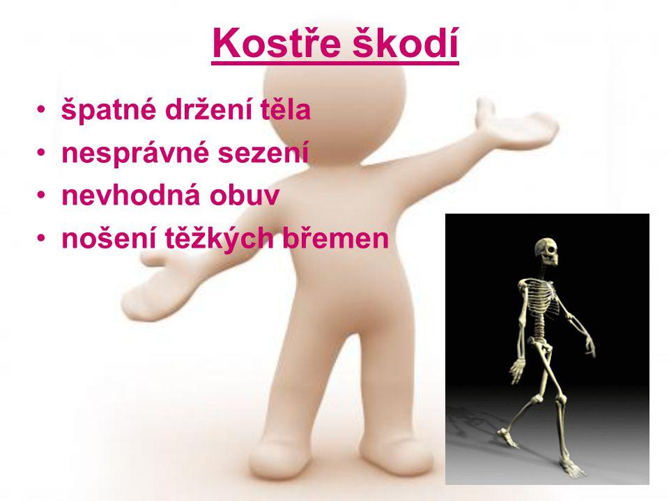 Kostře škodí špatné držení těla nesprávné sezení nevhodná obuv