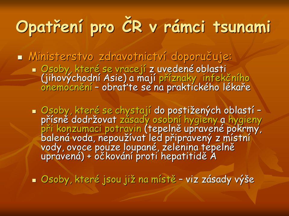 Opatření pro ČR v rámci tsunami