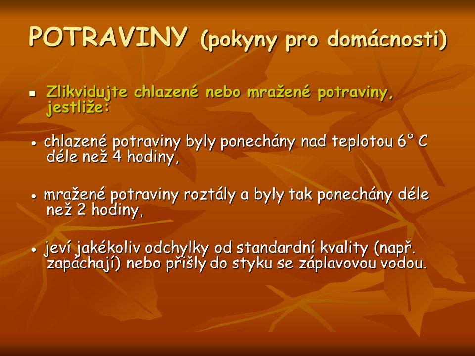 POTRAVINY (pokyny pro domácnosti)