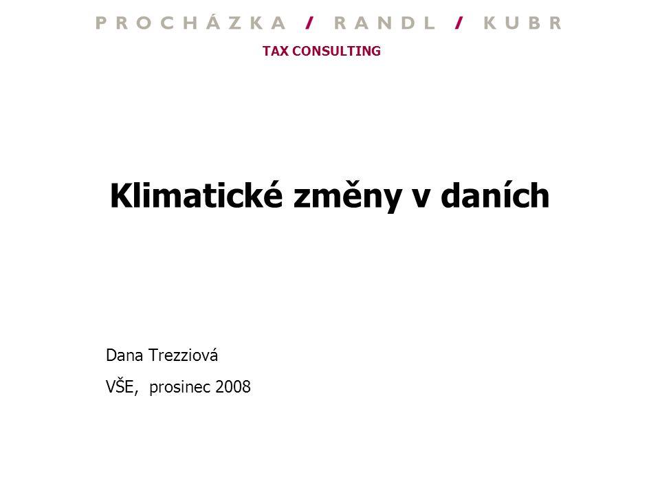 Klimatické změny v daních