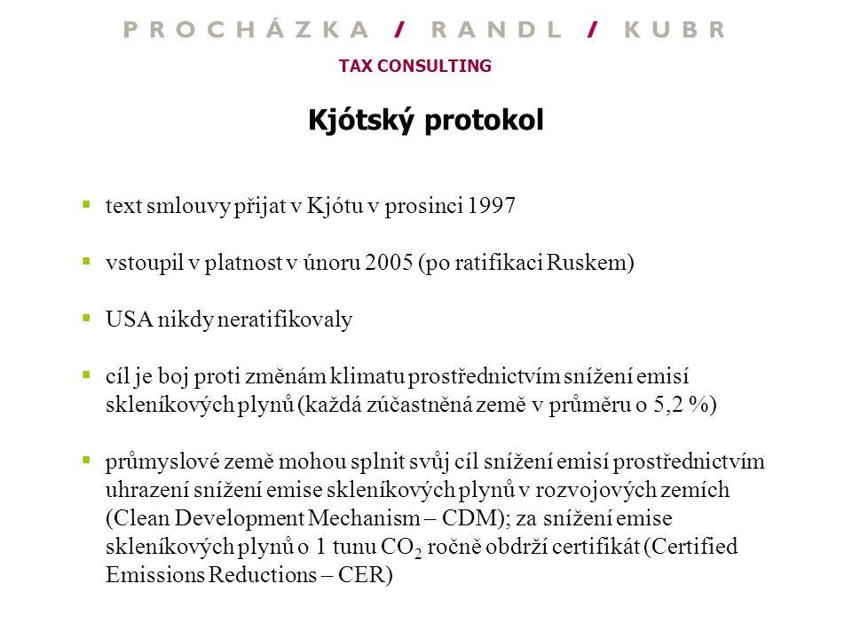 Kjótský protokol text smlouvy přijat v Kjótu v prosinci 1997