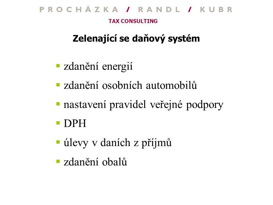 Zelenající se daňový systém
