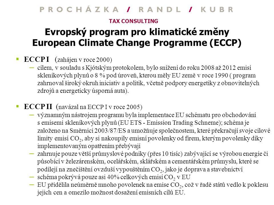 Evropský program pro klimatické změny European Climate Change Programme (ECCP)