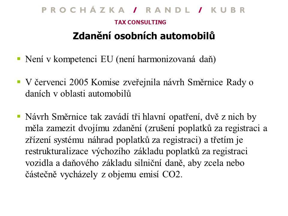 Zdanění osobních automobilů