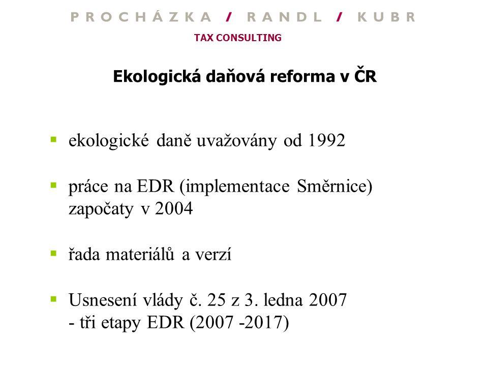 Ekologická daňová reforma v ČR