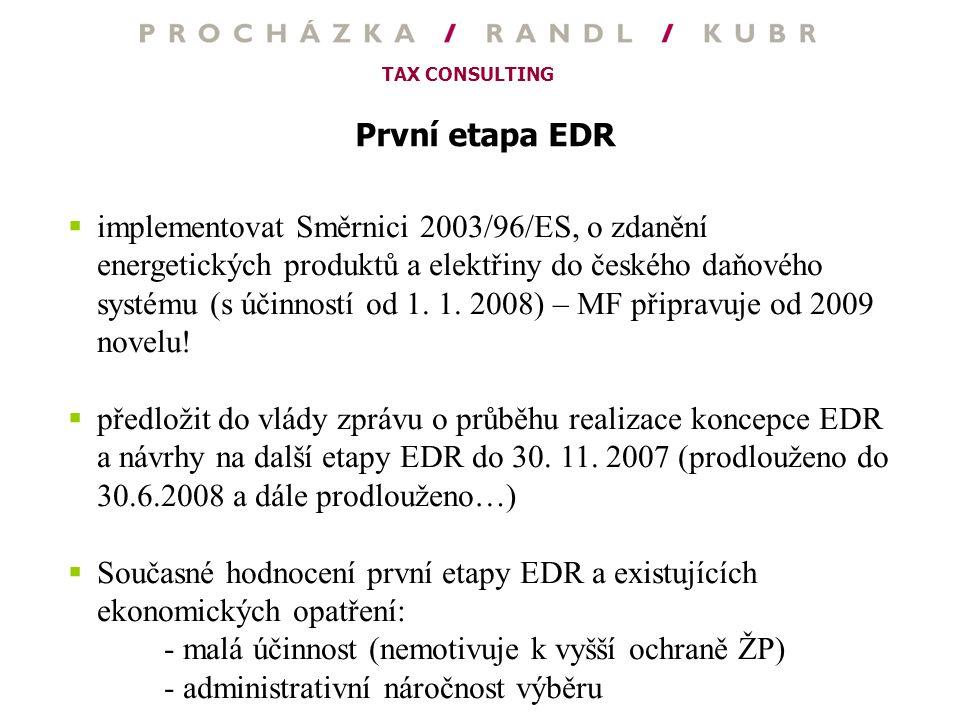První etapa EDR