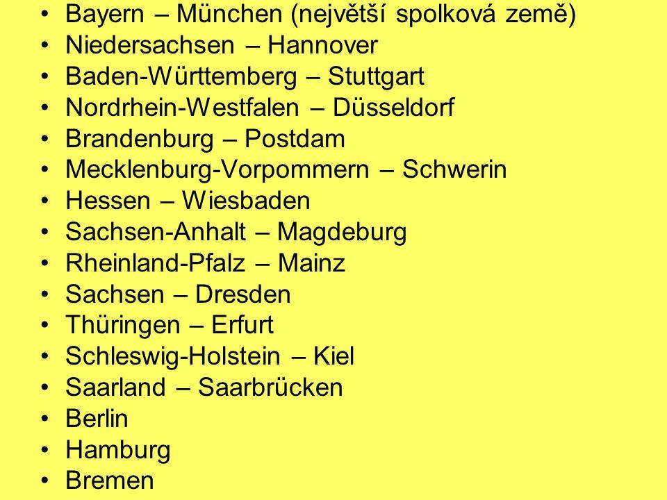 Bayern – München (největší spolková země)