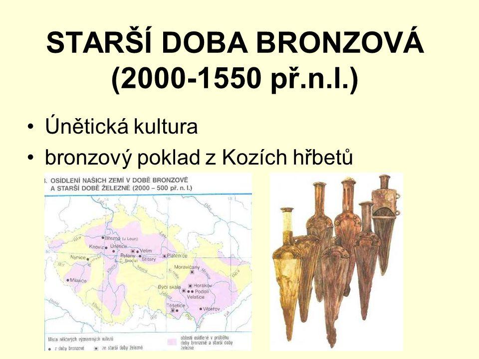 STARŠÍ DOBA BRONZOVÁ (2000-1550 př.n.l.)