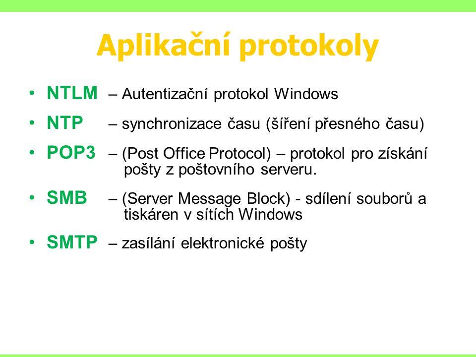Aplikační protokoly NTLM – Autentizační protokol Windows