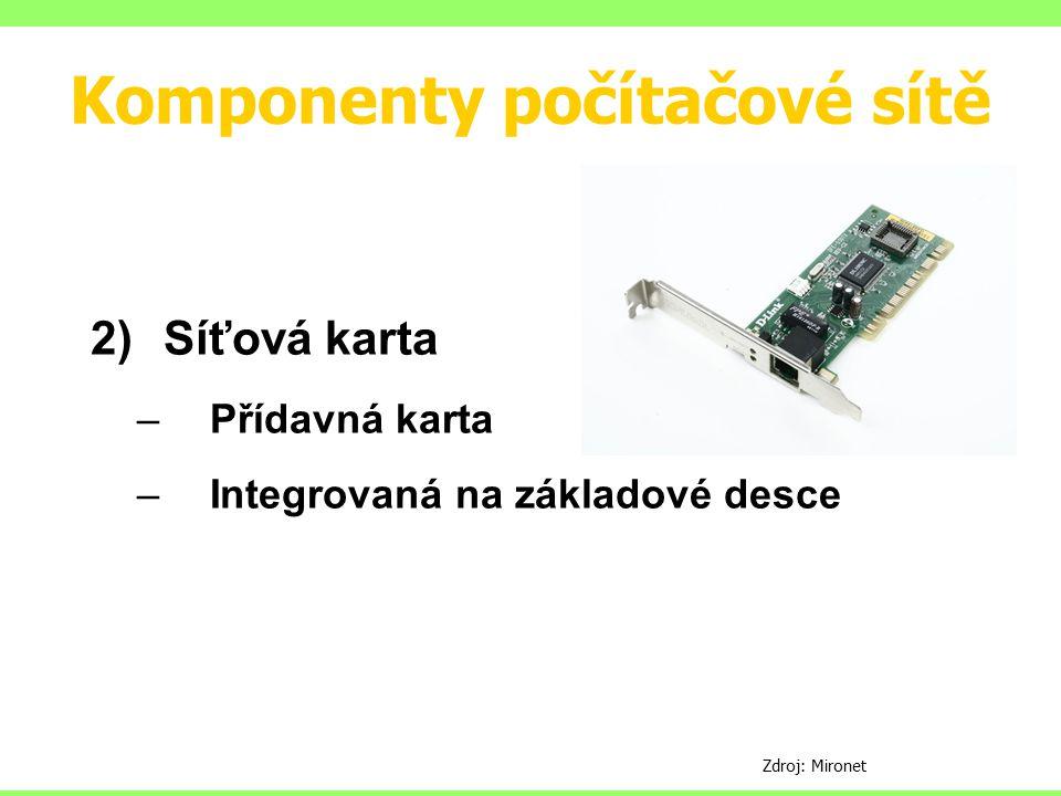 Komponenty počítačové sítě