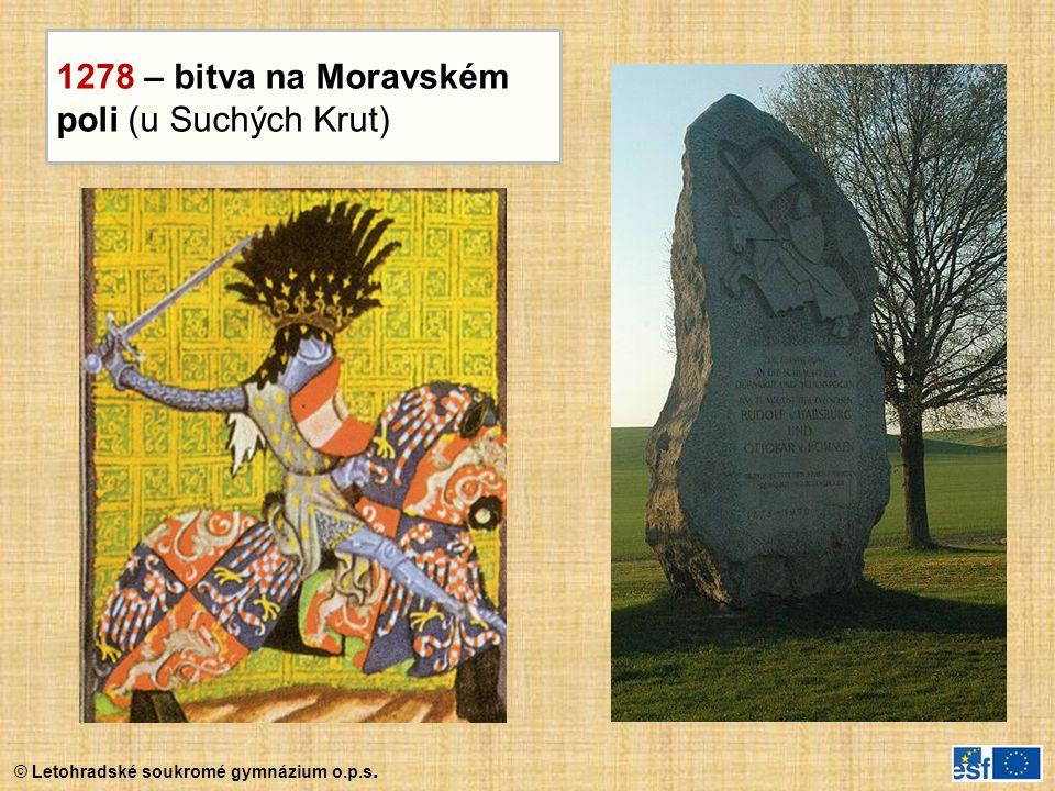 1278 – bitva na Moravském poli (u Suchých Krut)